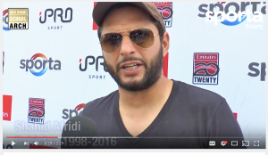 Shahid Afridi at Emirates T20 Tournament