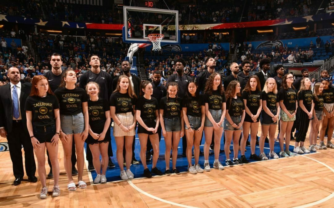 Caterham School Guests of Honour at US NBA Game