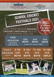 Schools Cricket Festival Flyer 2021