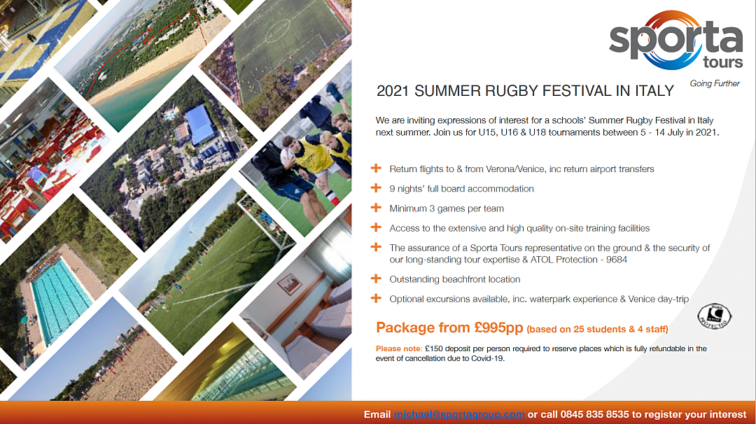 2021 Summer Rugby Festival in Italy