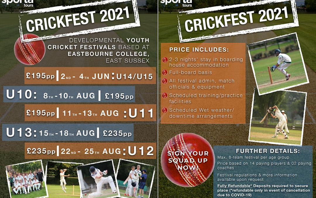 Developmental Youth Cricket in 2021