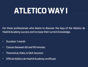 Atletico Way 1 Programme