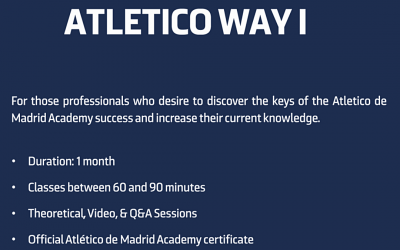 Atletico Madrid Online Course for Coaches