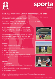 Umpiring Opportunity for ARCH 2022